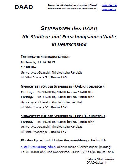 info po niemiecku