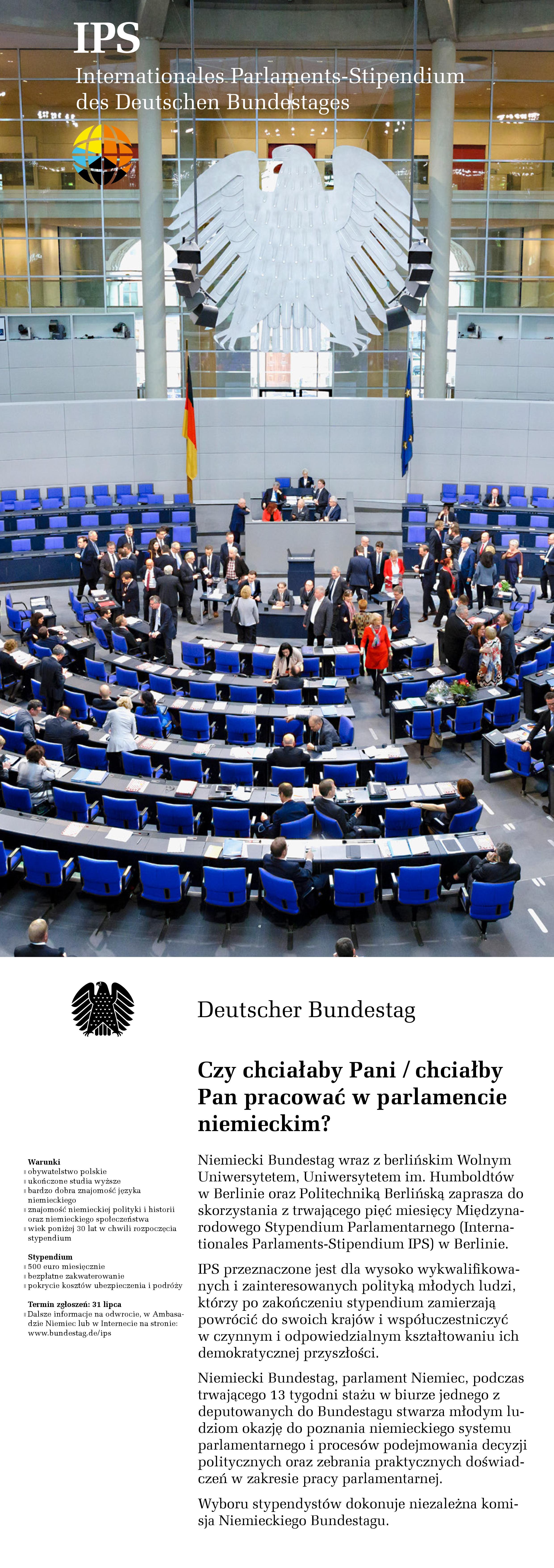 Międzynarodowe Stypendium Parlamentarne 2020