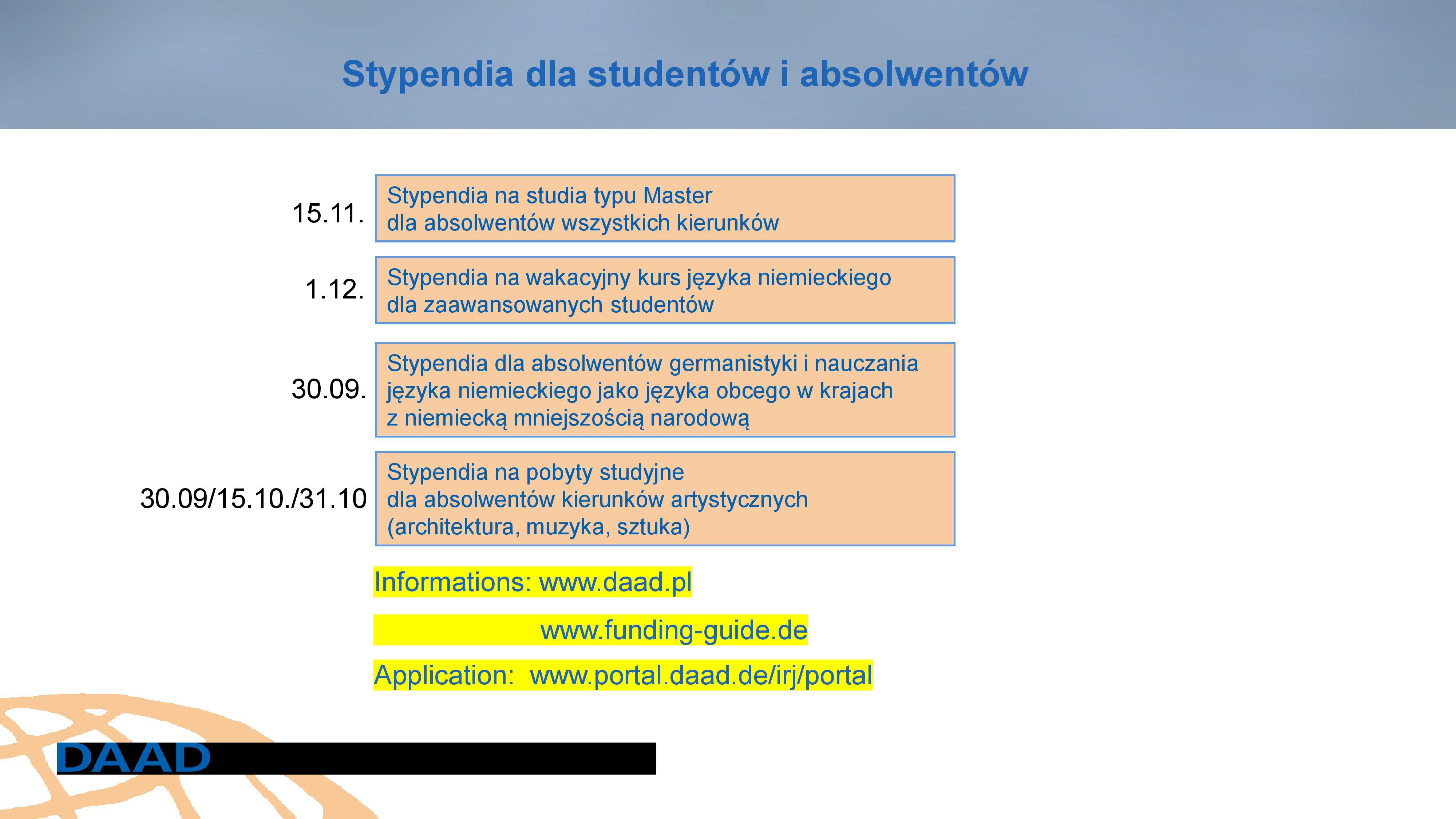 Stypendia DAAD (2)