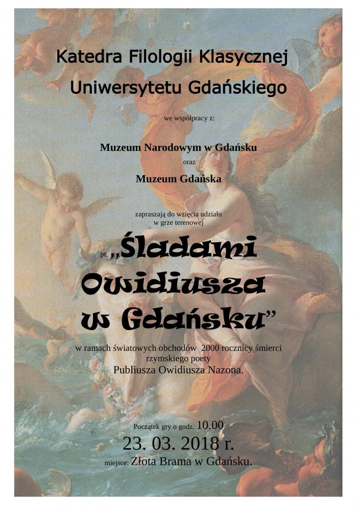 Śladami Owidiusza wGdańsku - gra miejska (plakat 2)