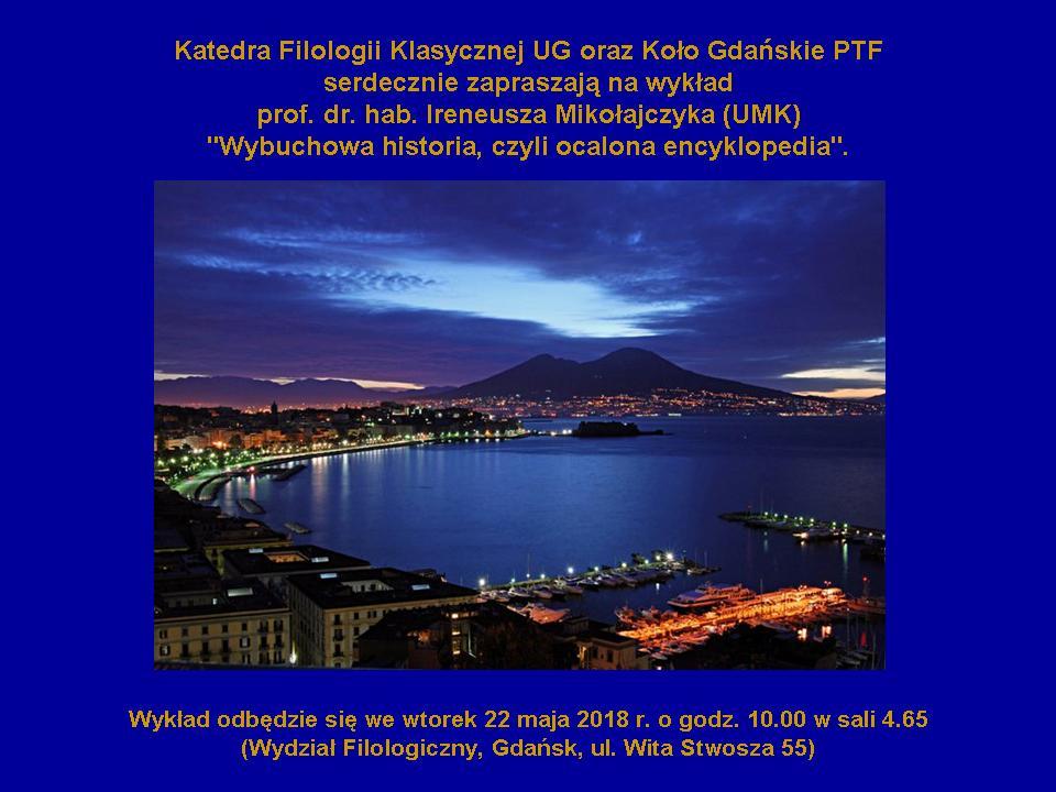 Plakat zzaproszeniem nawykład Prof. Ireneusza Mikołajczyka