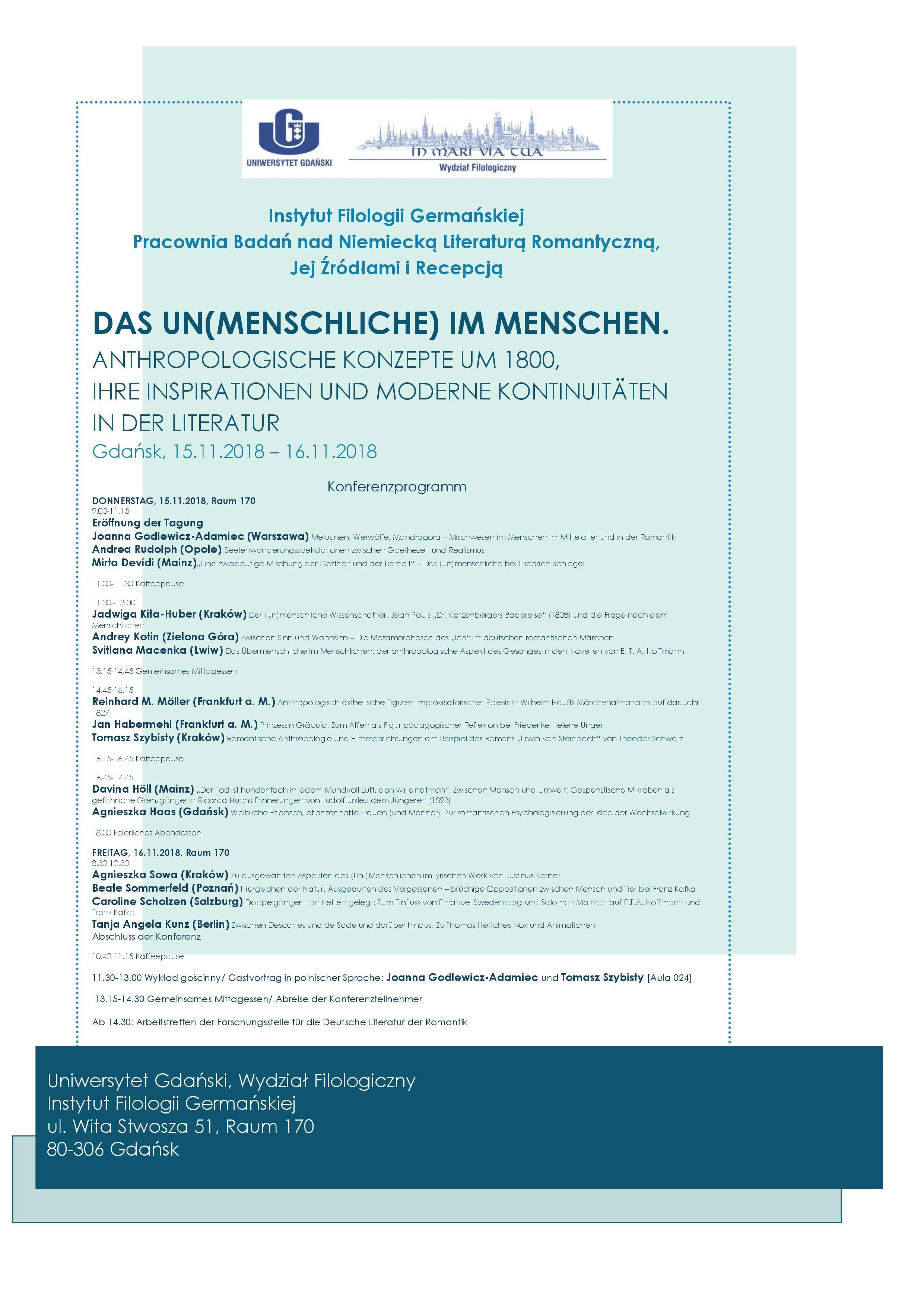 """Konferencja """"Das Un(Menschliche)..."""