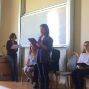 Katarzyna Godzwon czyta swój wiersz | Katarzyna Godzwon liest ihr Gedicht vor