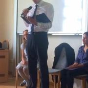 Marek Dąbrowski czyta swój wiersz | Marek Dąbrowski liest sein Gedicht vor