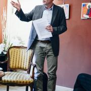 Spotkanie z Hansem Magnusem Enzensbergerem w Dworku Sierakowskich w Sopocie (19 kwietnia 2016r.)