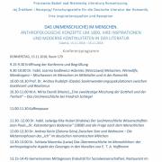 """Konferencja """"Das (Un)Menschliche..."""" (1)"""