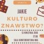 Druga Debata Kulturoznawcza - plakat